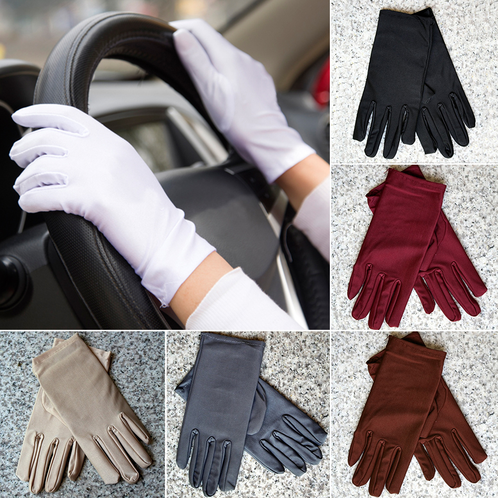 80981c11542a3 1 Pair Sunscreen Lace Short Paragraph Gloves Women's Summer/winter Lace Car Driving  Sunscreen UV