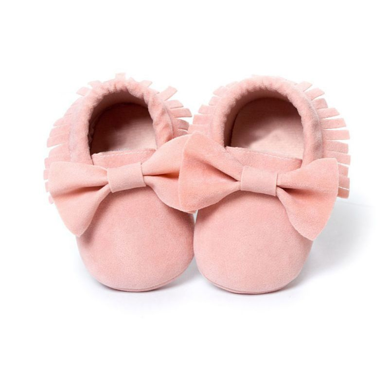 Baby Girls Shoes First Walkers Newborn Baby Moccasins Soft Boy Girl Fringe Soft Soled Non-slip Footwear Shoes(China)