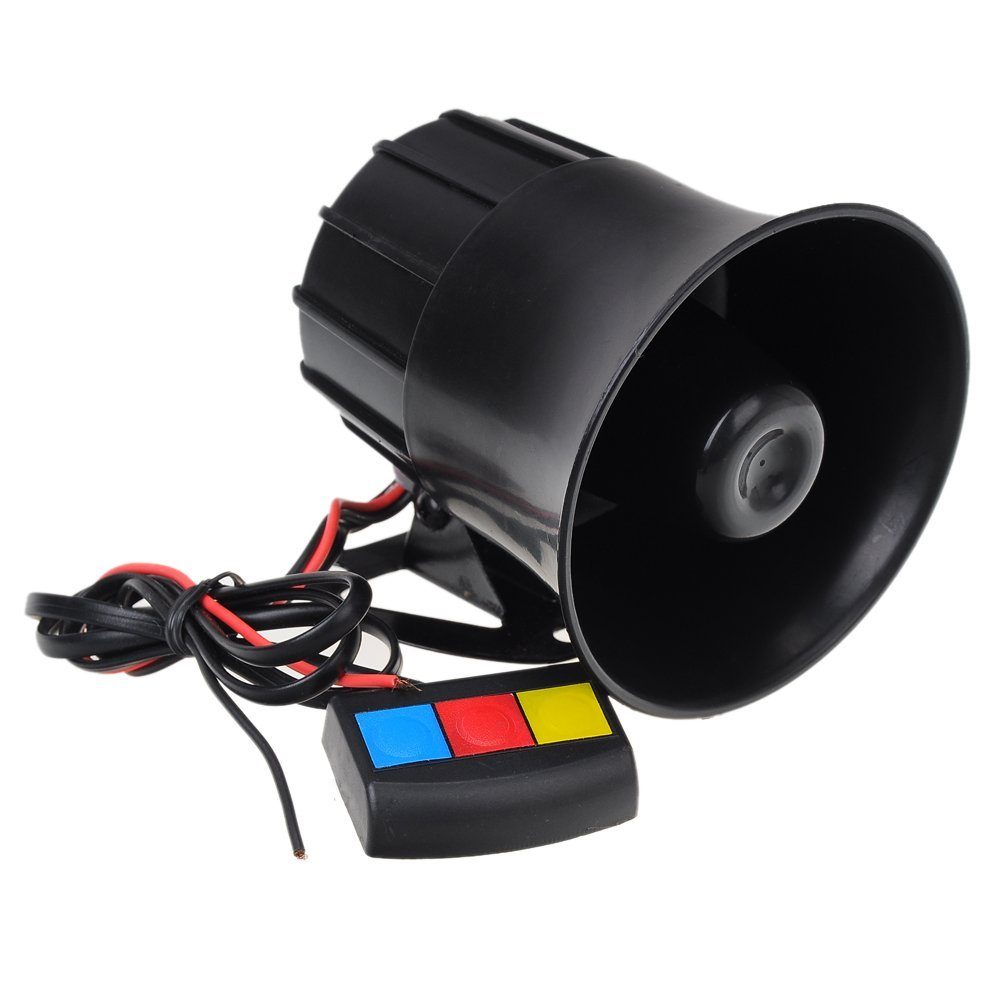 AUTO -Motorcycle Car Van Vehicle Loud Siren Security Horn 12V with 3 Sounds