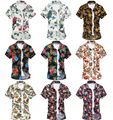 24 Colors New 2016 Men Floral Printed Shirts Summer Short Sleeves Male Casual Beach Shirt Plus Size Tops 4XL 5XL 6XL W663