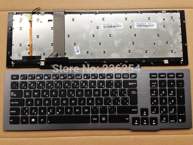 nieuwe sl slowakije verlicht toetsenbord voor asus g75vx g75vm g75 g75vw v126262ck2 sk 0knb0 9414sk00