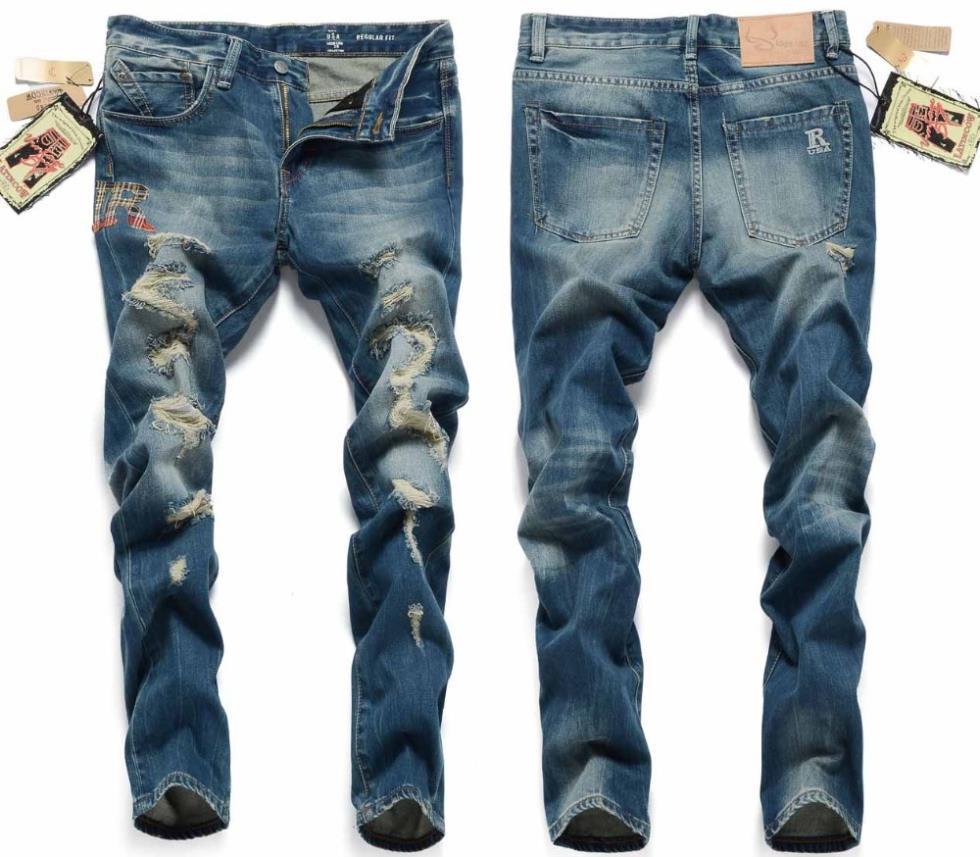 Aliexpress.com : Buy New Arrival Dark Blue Ripped Men Jeans 2014