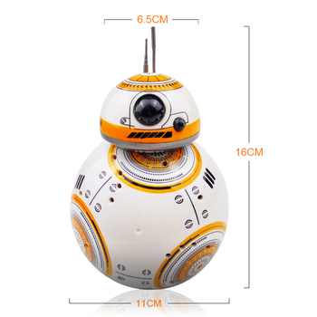 Fast delivery Upgrade Model Star Wars RC BB-8 Droid Robot BB8 Ball Intelligent Robot Kid Toy Gift With Sound 2.4G Remote Control 1