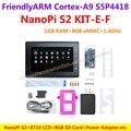 S5P4418 Cortex-A9 NanoPi S2 (1G RAM, 8 GB eMMC, 1.4 GHz) + X710 LCD + 8 GB Tarjeta SD, etc = NanoPi S2 KIT-E-F (Carreras de u-boot, Android5.1, Debian8)