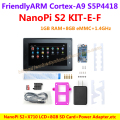 S5P4418 Cortex-A9 NanoPi S2(1G RAM,8GB eMMC,1.4GHz)+X710 LCD+8GB SD Card,etc=NanoPi S2 KIT-E-F(Runs u-boot,Android5.1,Debian8)