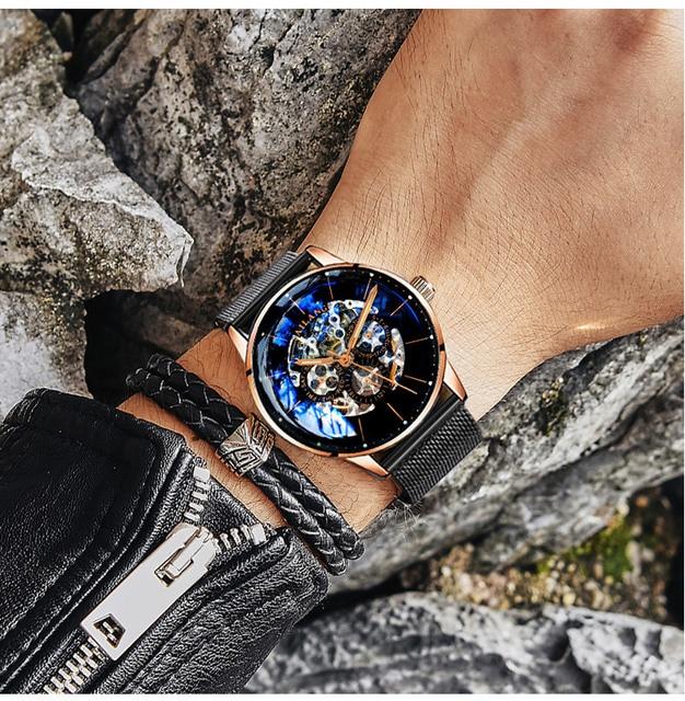 Ailang Топ дизайн часы минималистский Турбийон мужские автоматические