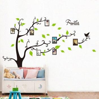Семья навсегда фоторамка дерево стикер стены гостиной спальни настенные наклейки домашний Декор дети постер для детской комнаты росписи