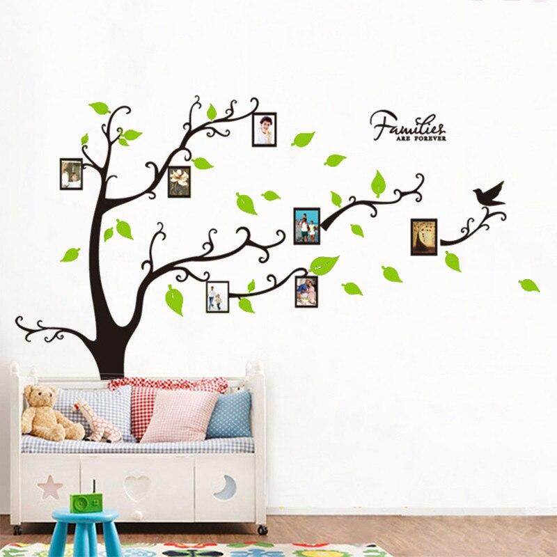 Família Para Sempre Quadro Da Foto Da Árvore Adesivos De Parede Sala Quarto  Adesivos De Parede Home Decor Crianças Nursery Poste. Part 72