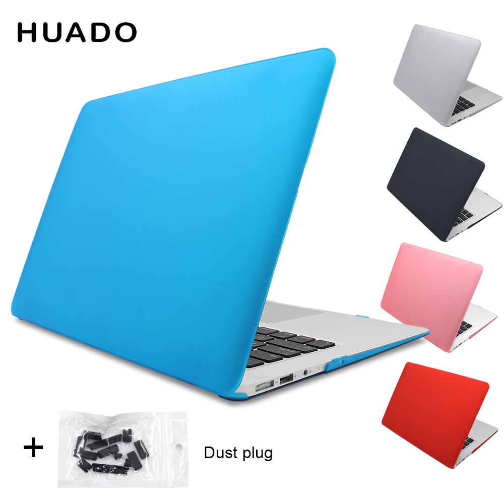 Laptop matte cases Hard Cover notebook case for Macbook air 13.3 11,6/Mac pro 13.3 15 15.4 Retina/ macbook with free dust plug