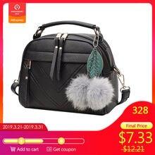 e7c65b30fa7e Стильная дамская сумочка из искусственной кожи милые мини сумка сумки на  плечо с мяч игрушка Bolsa женственный Женская Праздничн..
