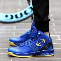 Zapatillas de baloncesto hombres mujeres High Top sneakers deporte al aire libre Zapatos cesta transpirable Botines aire Cojines sneakers tamaño 36 ~ 45