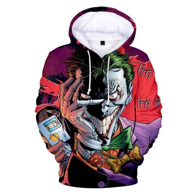Joker 3D Print Sweatshirt Hoodies Men and women Hip Hop Funny Autumn Street wear Hoodies Sweatshirt For Couples Clothes 5