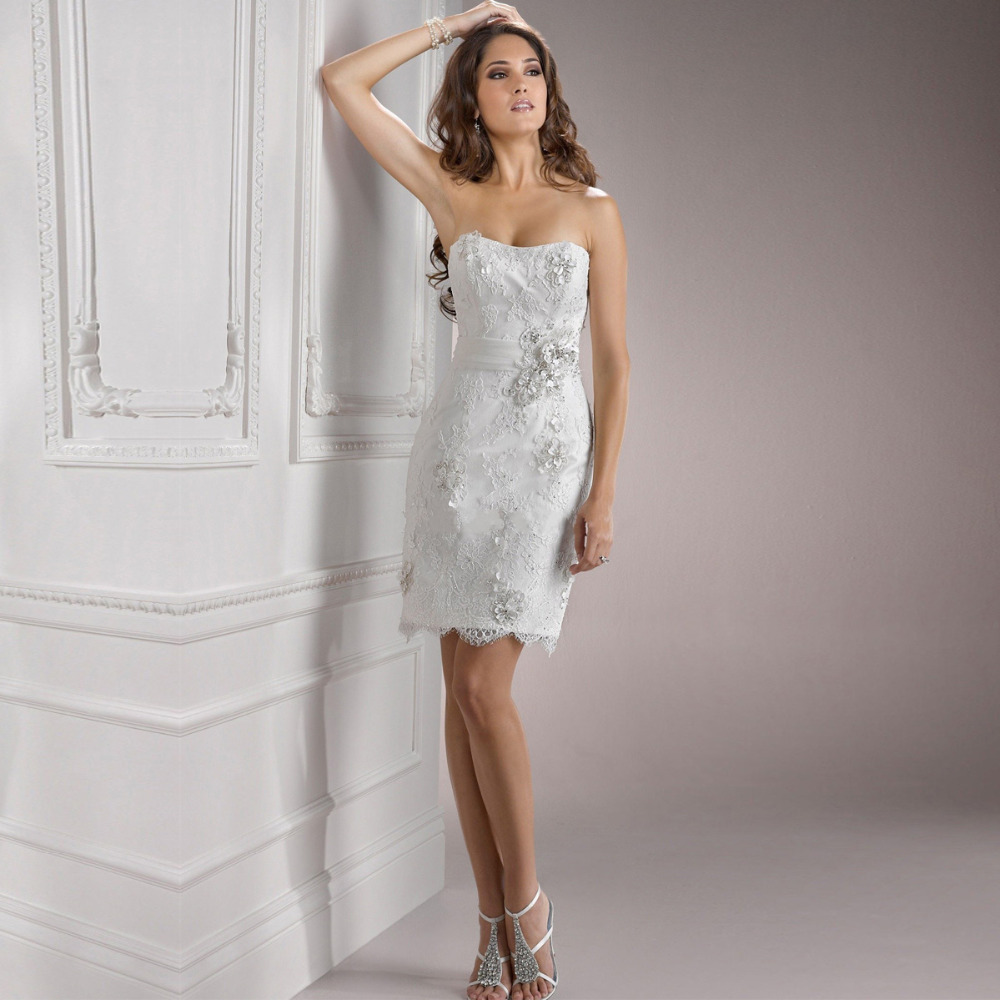Short strapless ivory wedding dress dress blog edin for Ivory short wedding dress