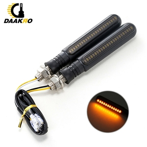 Image 5 - Luces de señal de giro para motocicleta LED acrílico, 12 luces indicadoras de giro, cc 12V, bolsa OPP de agua corriente amarilla