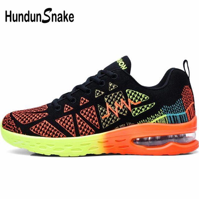 08beee8359d65 Hundunsnake Summer Man Sneakers For Running Air Cushion Women Sport Shoes  Men Mesh Zapatillas Orange Gym Basket Homme 2018 G-27
