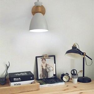 Image 4 - Lampe murale nordique en bois massif, lampe de chevet créative et simple, pour salon, escalier, hôtel, allée, chambre à coucher