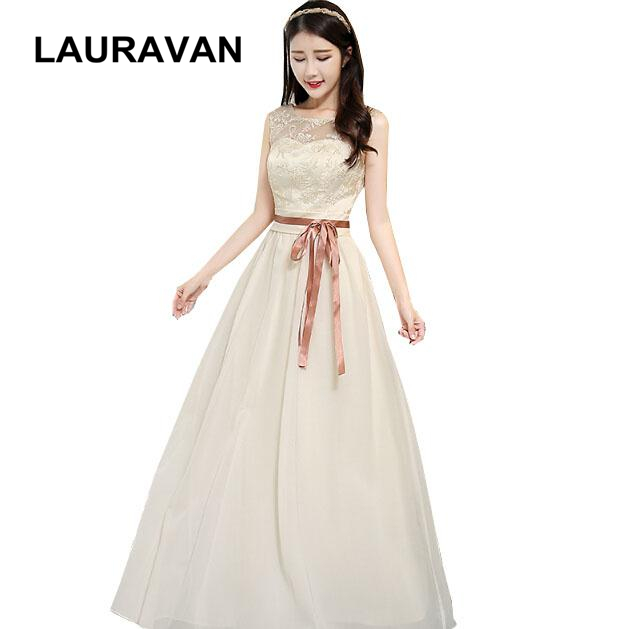 Elegant Modest Bridesmaid Party Dresses Female Formal Dress Chiffon For Women Gowns For Special Occasion Champagne Wedding
