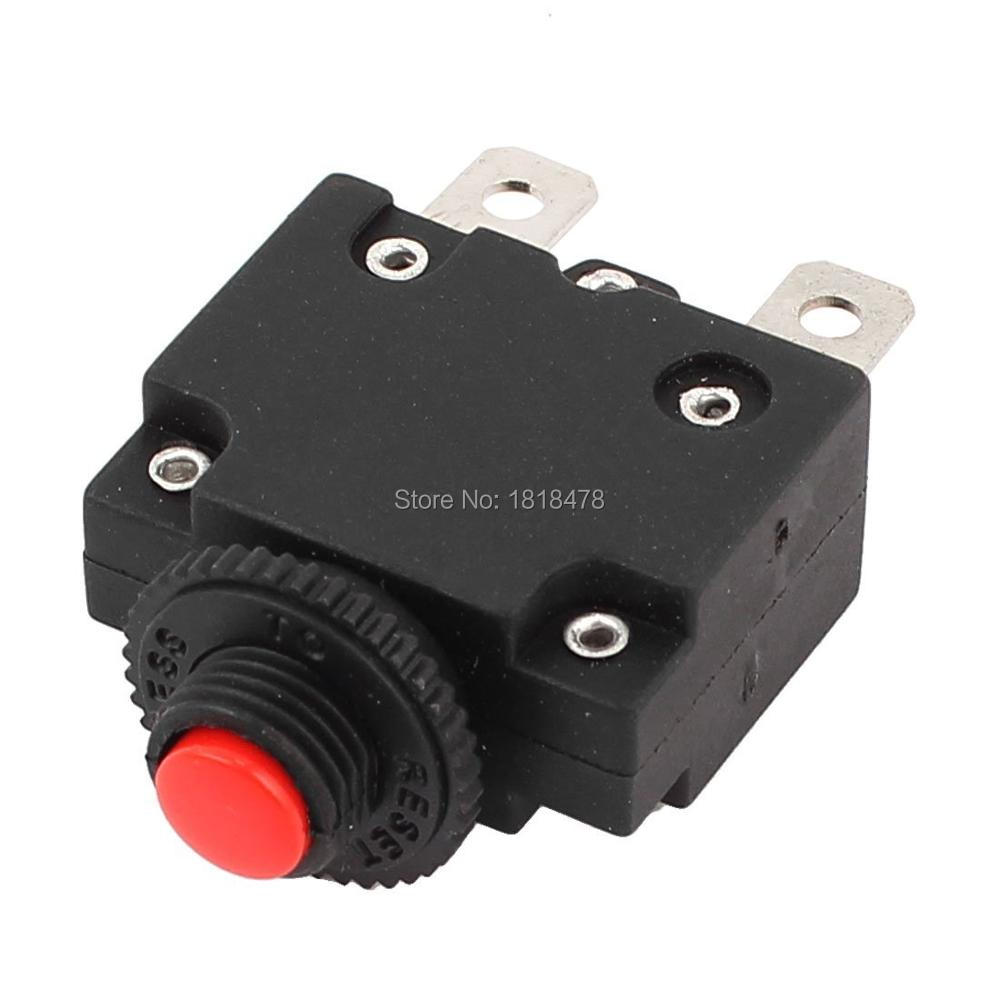 10pcs HS R01 5A 10A 15A 20A  AC 125/250V 20A Air Compressor Circuit Breaker Overload Protector