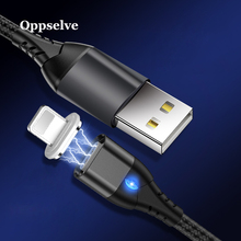 Oppselve 1M LED Magnetic USB Cable For iPhone Xs Max 8 7 6 & Type C Micro Samsung Xiaomi LG Tubo