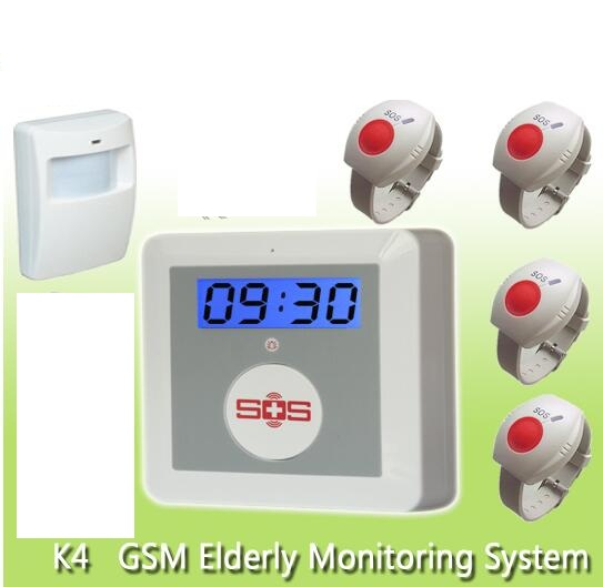16 wireless alarm zones GSM senior daily life SOS GSM home alarm system elderly care alarm emergency call system  цены