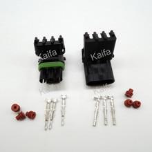 Каифа 50 компл. 3 Булавки Погода пакет Weatherpack электрические Провода 2.5 Разъем герметичный автомобильной Инструменты для наращивания волос
