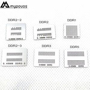 Image 1 - 6 ピース/ロット直接加熱 bga ステンシル (DDR DDR2 DDR2 2 DDR2 3 DDR3 DDR5) XBOX360 メモリ Ram ステンシル