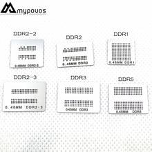 6 יח\חבילה ישירות מחומם bga סטנסילים (DDR DDR2 DDR2 2 DDR2 3 DDR3 DDR5) עבור XBOX360 זיכרון RAM שבלונות