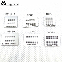 6 ชิ้น/ล็อตโดยตรงอุ่น bga stencils (DDR DDR2 DDR2 2 DDR2 3 DDR3 DDR5) สำหรับ XBOX360 หน่วยความจำ RAM stencils