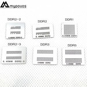 Image 1 - 6 pçs/lote bga Diretamente Aquecida stencils (DDR DDR2 DDR2 2 DDR2 3 DDR3 DDR5) para XBOX360 stencils Memória RAM