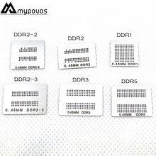 6 stks/partij Direct Verwarmd bga stencils (DDR DDR2 DDR2 2 DDR2 3 DDR3 DDR5) voor XBOX360 Geheugen RAM stencils