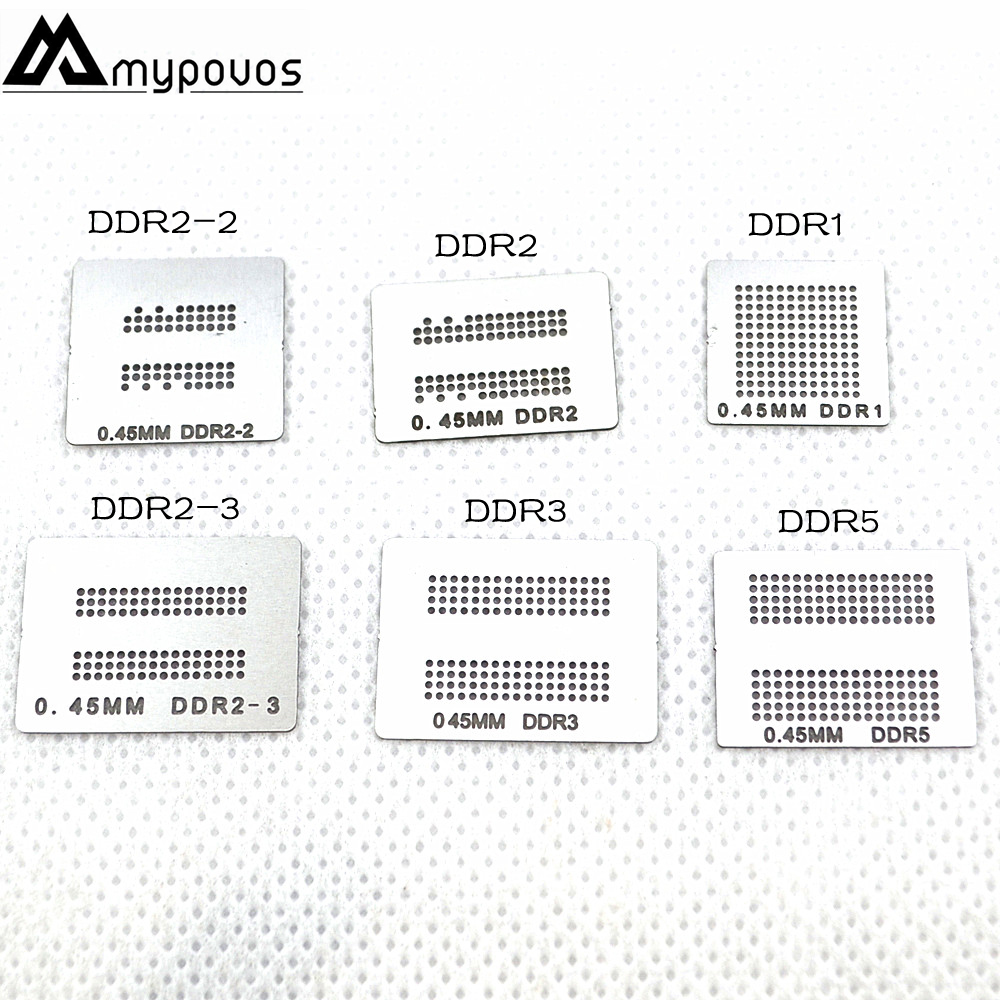6pcs/lot Directly Heated Bga Stencils (DDR DDR2 DDR2-2 DDR2-3 DDR3 DDR5) For XBOX360 Memory RAM Stencils