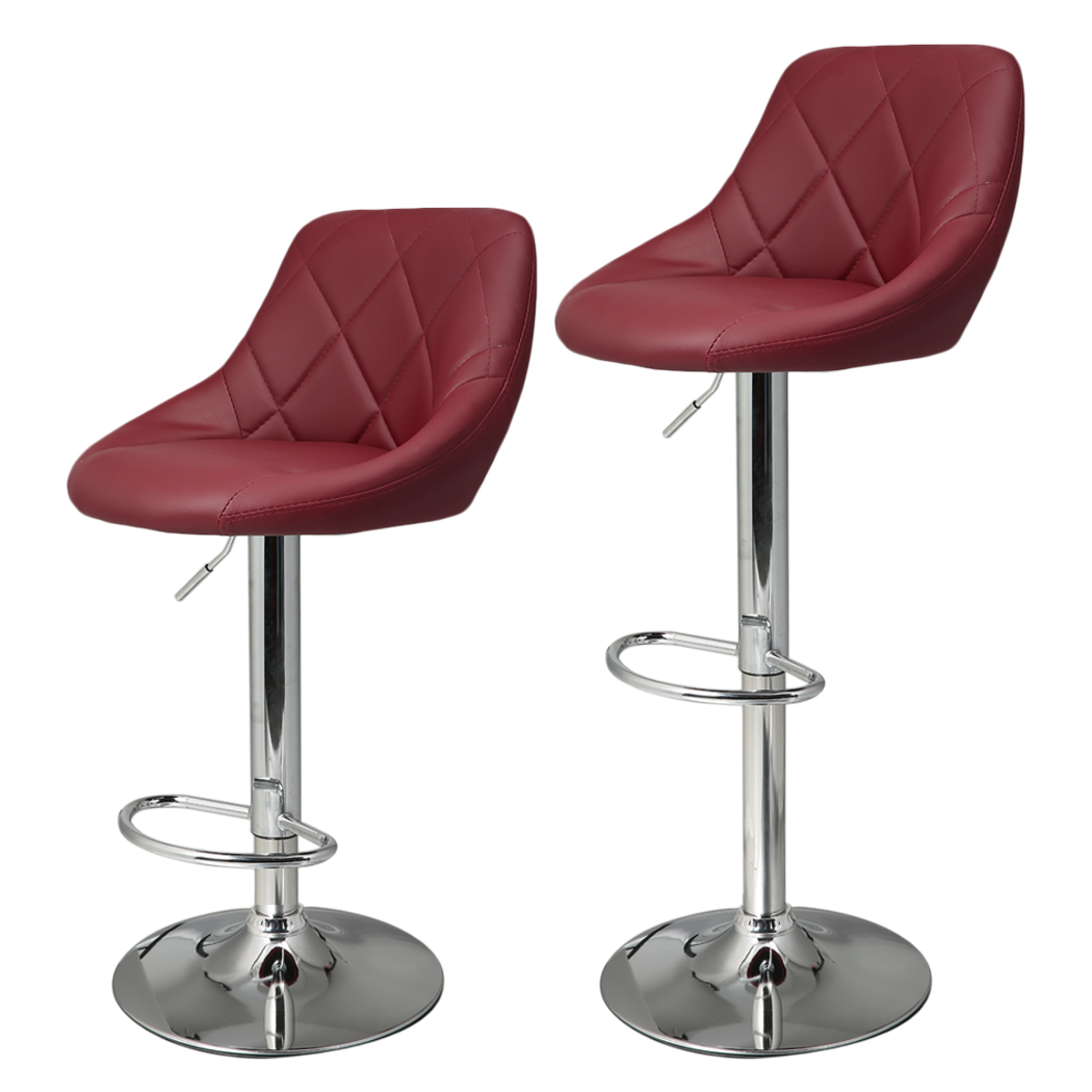 Homdox 2pcs Synthetic Adjustable Swivel Bar Stool Stainless Steel ...