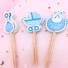 CMGBOBP 18PCs Baby Shower Cake Decorations Boy Girl Birthday Party Cupcake Toppers Children Favors Supplies Ornament