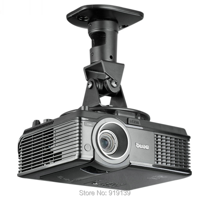 High Quality New 360 Degrees Adjustable Universal Ceiling Mount Black Bracket Aluminum Easy Using For Video Projector Hanger multifunction 360 degrees rotatable universal roof ceiling mount black aluminum wall bracket suit for led lcd dlp projector