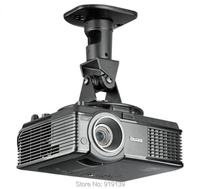 High Quality New 360 Degrees Adjustable Universal Ceiling Mount Black Bracket Aluminum Easy Using For