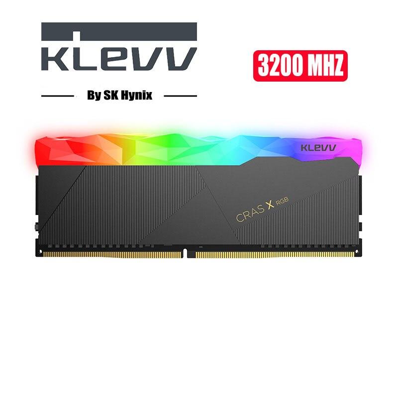 Klevv CRAS-X RGB 32 GB 16 GB 2X8 GB 3200 MHz DDR4 1.35 DIMM 288-pin XMP Memoria Ram ddr4 ordinateur de bureau de mémoire Ram pour jeux d'ordinateur
