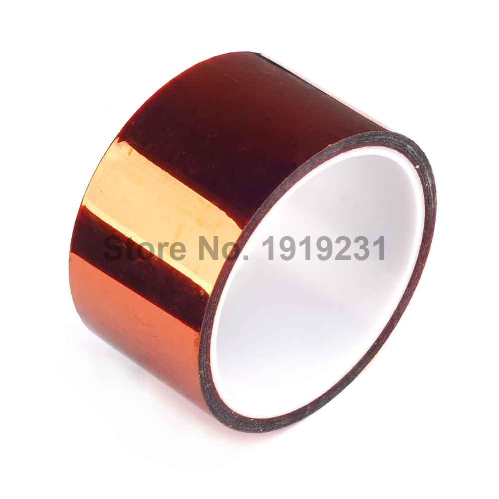 1PCS 50mm x 33m for 3D Printer Heat Tape Resistant High Temperature Polyimide Adhesive Tape high temperature heat resistant polyimide adhesive tape 65mm x 30m 260 300 degree new for electronics industry