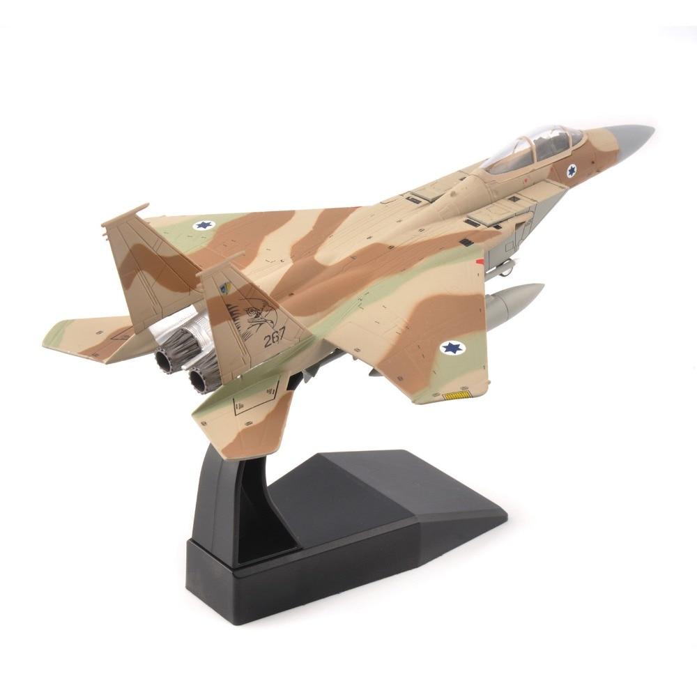 Enfants jouets 1/100 Israel Airforce US F-15 aigle combattant Camo Air Force moulé sous pression avion modèle alliage AirlineToy