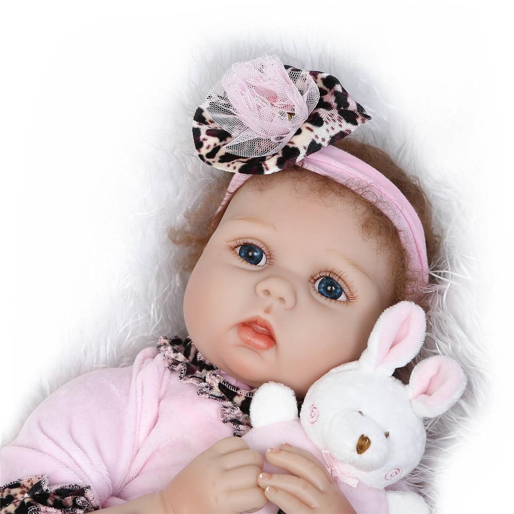 22 ''bebe vivant reborn bonecas NPK fait à la main réaliste silicone Reborn bébé poupée filles avec hochet sucette enfant cadeau