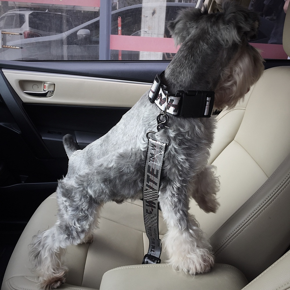 NEW Vehicle Car Pet Dog Seat Belt Puppy Collar Leash Lead Clip Pet Dog Supplies Safety Lever Auto Traction Products 16