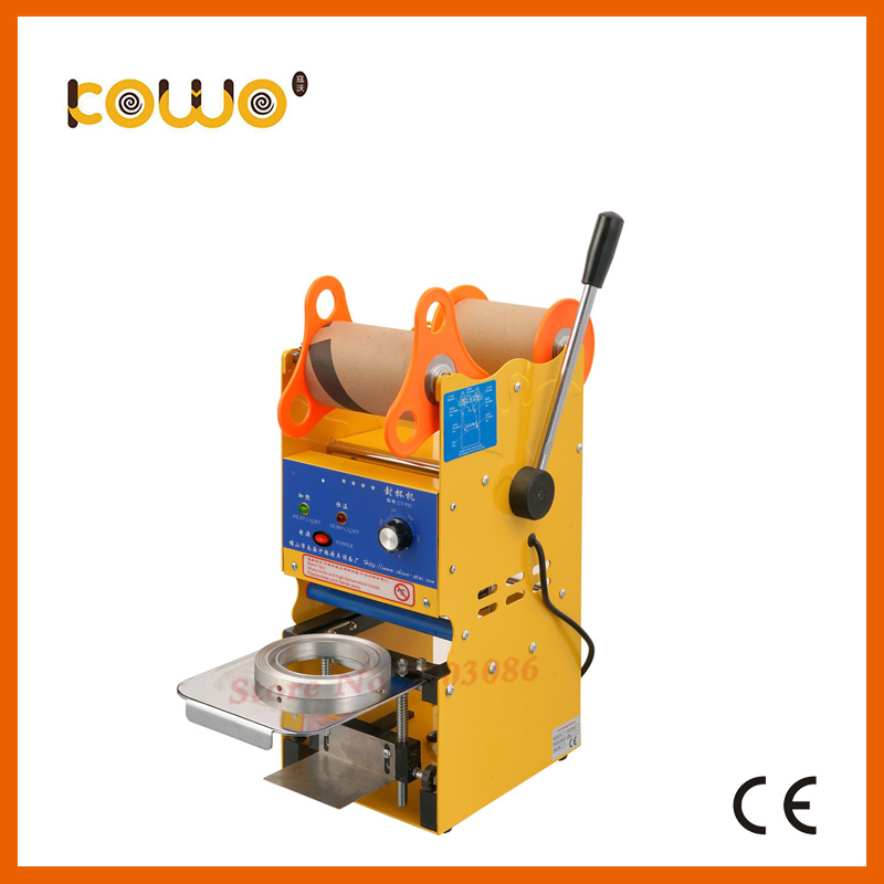 ce plastic digital manual cup sealing machine electric 300-500 cups/hour cup sealer bubble tea sealing machine food processor