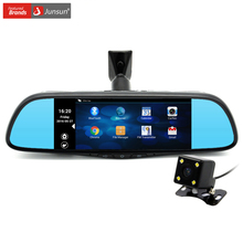 Junsun 7″ Special Car DVR Camera Mirror FHD 1080p Android 4.4 GPS navigation Bluetooth Dual Lens Video 16GB Recorder automobile