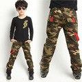 Nueva Llegada de Camuflaje Pantalones Niños Pantalones Niños Deportes Comfort Denim Pantalones de Estilo Militar Al Aire Libre Resistente Al Desgaste