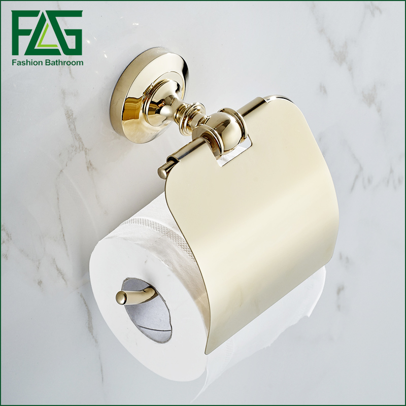 Promotion Paper Towel Holder Polished Golden Bathroom Toilet Accessories Wall Mounted Toilet Paper Holder yanjun toilet anti drop paper jumbo roll holder wall mounted paper towel dispenser bathroom accessories yj 8607