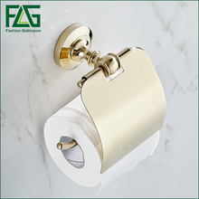 Free Shipping Wholesale And Retail Promotion Classic Art Polished Golden Finish Bathroom Wall Mounted Toilet Paper Holder