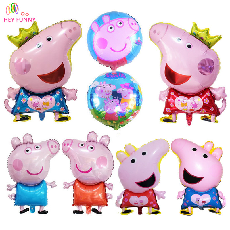 HEY FUNNY Newly Cute Pig Toy Childrens Air Foil Balloons Cartoon Pink Pig for Children Funny Party & Birthday Decoration