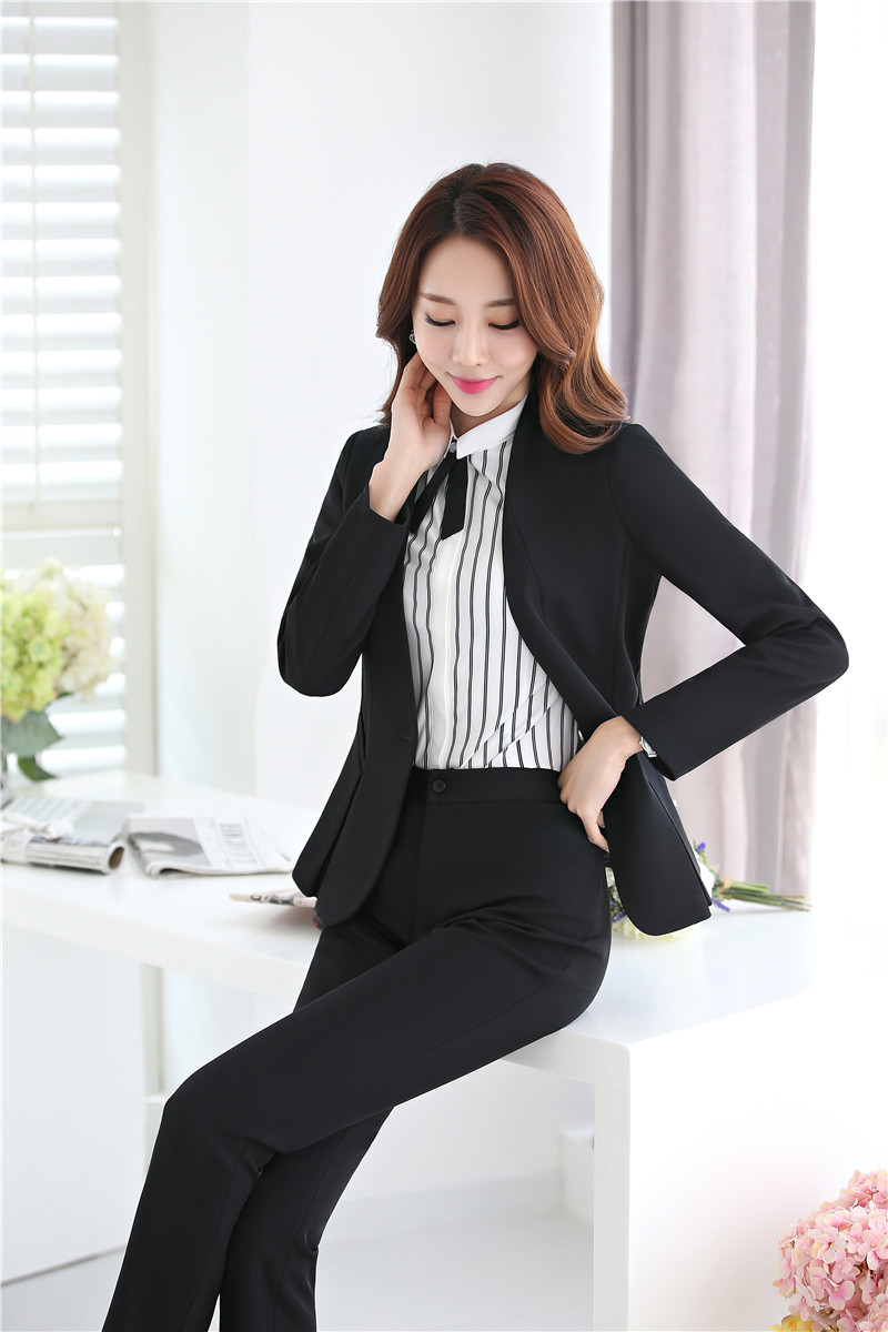 Pant Suits Ladies Navy Blue Blazer Women Business Suits Formal Office Suits Work Wear Uniforms Pant And Jacket Sets Ol Styles Back To Search Resultswomen's Clothing