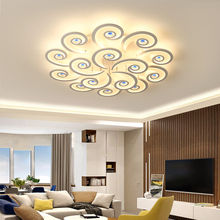 цены Remote Control Ceiling Chandeliers Crystal decoration White modern Led Chandelier lighting for living room acrylic lustre