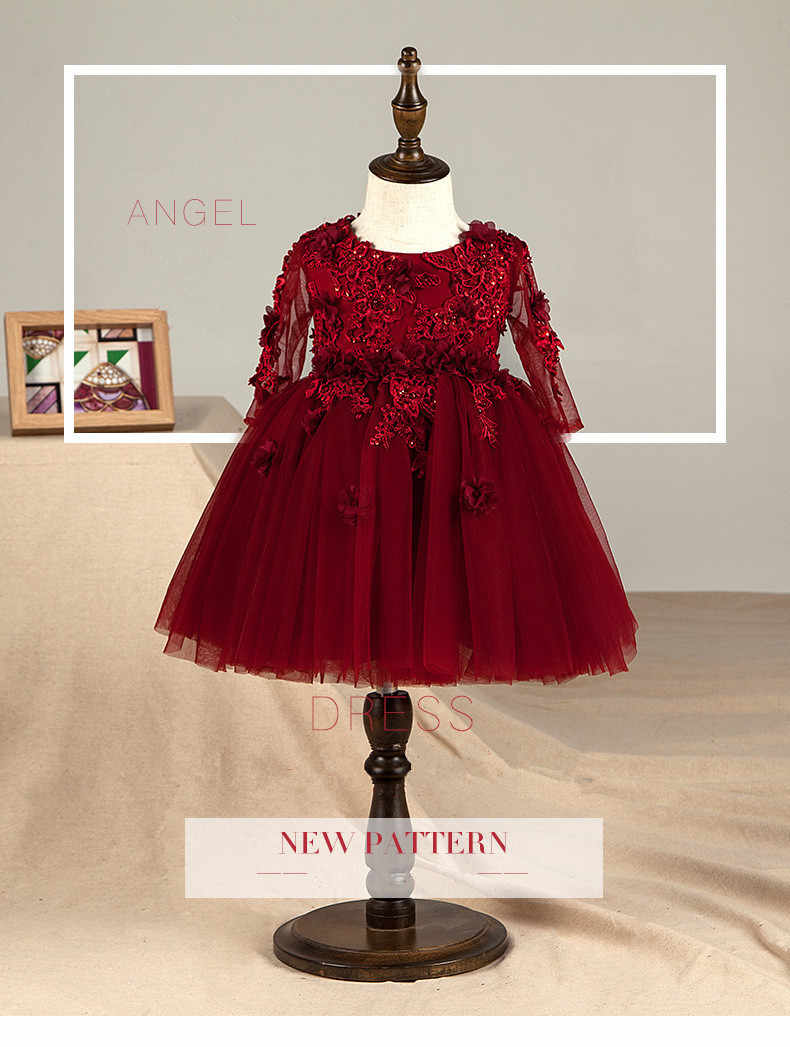 Vestidos Elegantes Para Niña Color Vino