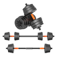 10kg Gym Equipment Adjustable Barbell dumbbell dual use plastic bag adjustable arm exercise training device